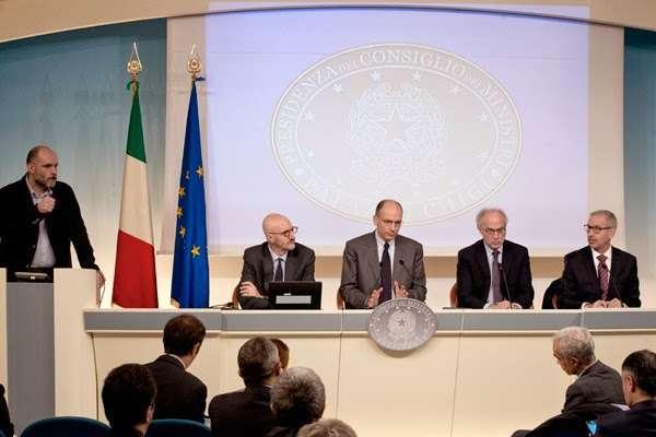 Presentazione del rapporto a Palazzo Chigi - fonte: Governo