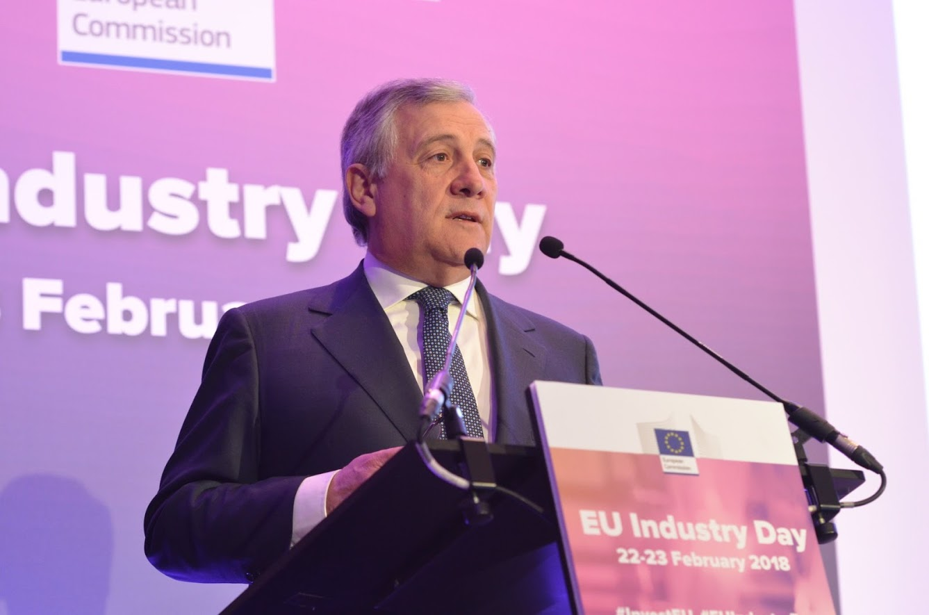 Antonio Tajani, EU Industry Day, Bruxelles 22.02.2018 - photo credit European Commission