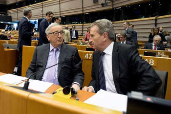 Juncker e Oettinger - © European Union, 2018/Source: EC - Audiovisual Service