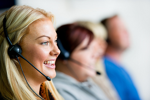 Contact centre - photo credit: Holidayextras