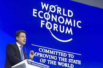 Conte a Davos - photo credit governo.it