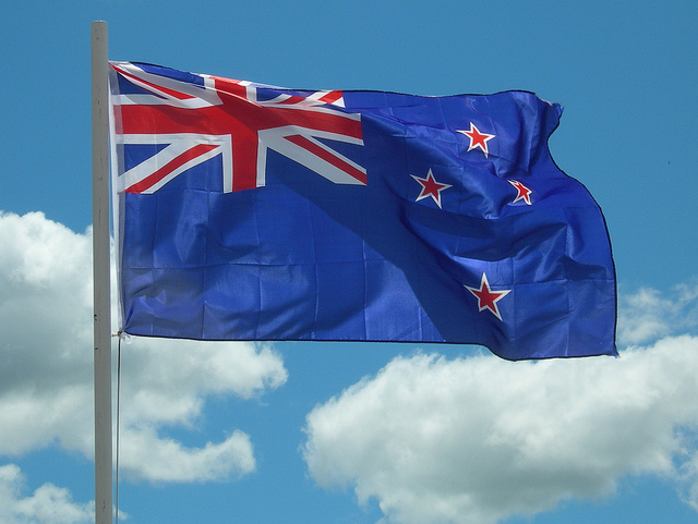 NZ flag - Photo credit Michael Button