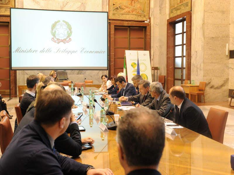 Tavolo geotermia - Photo credit: Ministero dello Sviluppo economico