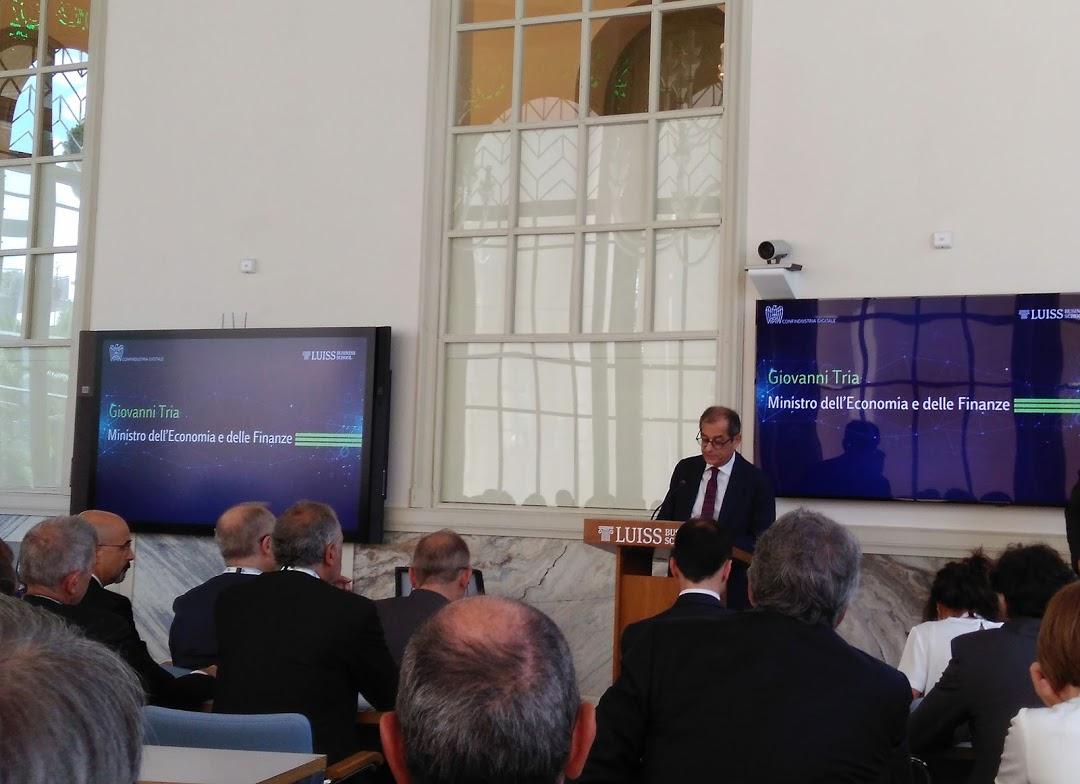 Giovanni Tria, Ministro dell'Economia e delle Finanze, Luiss Business School, Roma 16.07.2019