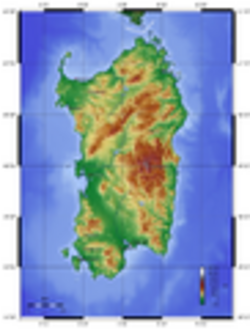 Sardegna, Mappa topografica - Foto di Zamonin