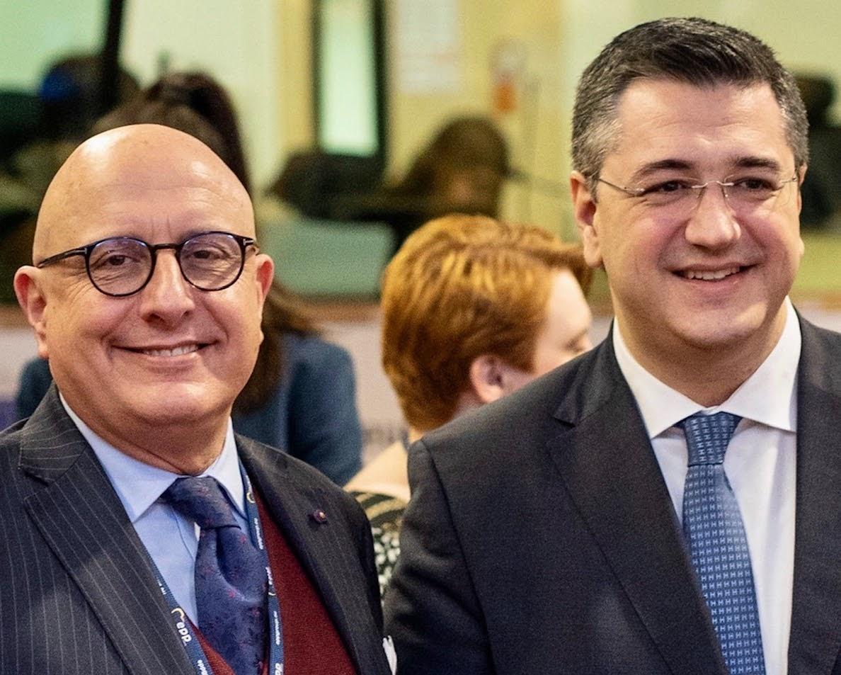 Armao con il Presidente del Comitato europeo delle Regioni Apostolos Tzitzikostas