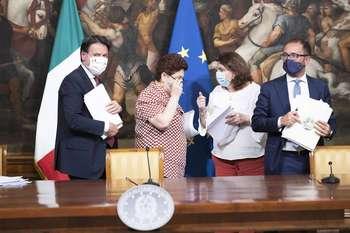 Conferenza stampa Decreto Agosto - Photo credit: Palazzo Chigi
