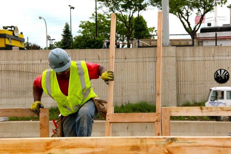 Worker at Garfield